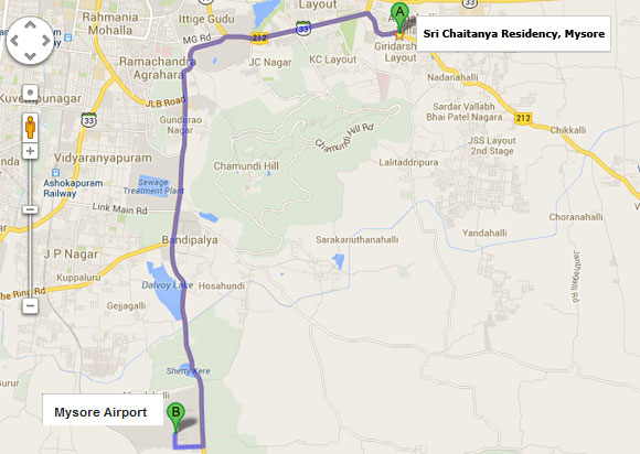 Bangalore To Sri Chaitanya Residency
